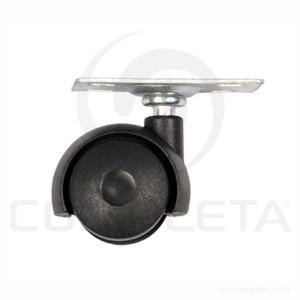 Rodízio PVC base giratória 38 mm preto 036006000
