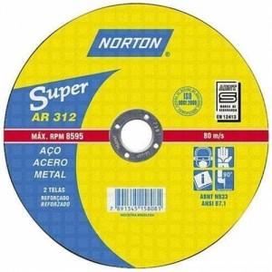 "Disco de corte ferro 7"" x 1/8"" x 7/8"" AR 312 - Norton"
