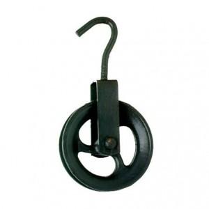 Roldana em ferro fundido com Gancho 08cm Biehl Ref.4095008