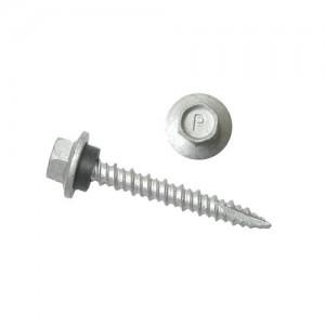 Parafuso ferro telha zinco HI-Lo autoperfurante ogivada 4,8 x 38