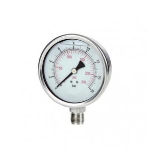 Manômetro para ar comprimido e água glicerinado 60PSI