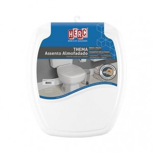 Assento sanitário almofadado branco reto 2395