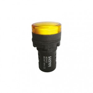 Sinaleiro painel 220V amarelo 16004