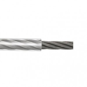 Cabo de aço revestido 3,18 x 3,97 mm preto flex (venda por metro)