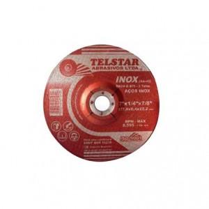 """Disco de desbaste inox 4.1/2"""" x 1/4"""" x 7/8"""" AA-45"""
