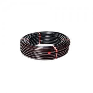 """Mangueira preta 1"""" x 2,5 mm selo vermelho (venda por metro)"""