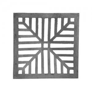 Grelha em ferro fundido sem suporte quadrada 15 x 15 cm